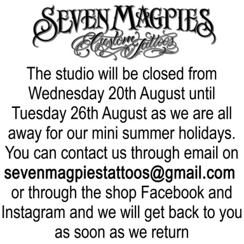 We_re_off_in_about_half_an_hour_so_any_last_minute_questions_get_at_us_quick___sevenmagpiestattoos